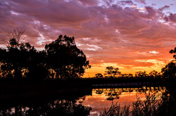 91 Fiona Tracey - Sunset at the weir