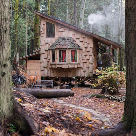 A professional cyclist leaves Seattle for a tiny house in an intentional community on the Olympic Pennisula