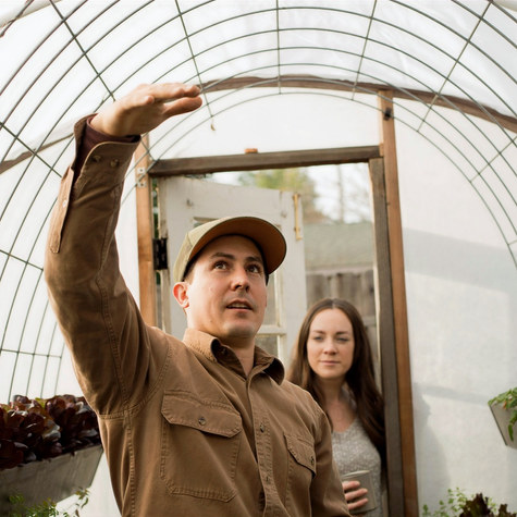 A tour of Kyle Hagerty of @urbanfarmstead and Morgan Daily of @dailyflourish urban haven in Sacramento, CA