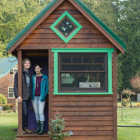 Couple leaves Seattle and moves into a tiny home they built so they can afford to pursue their passions of illustration and tiny home design