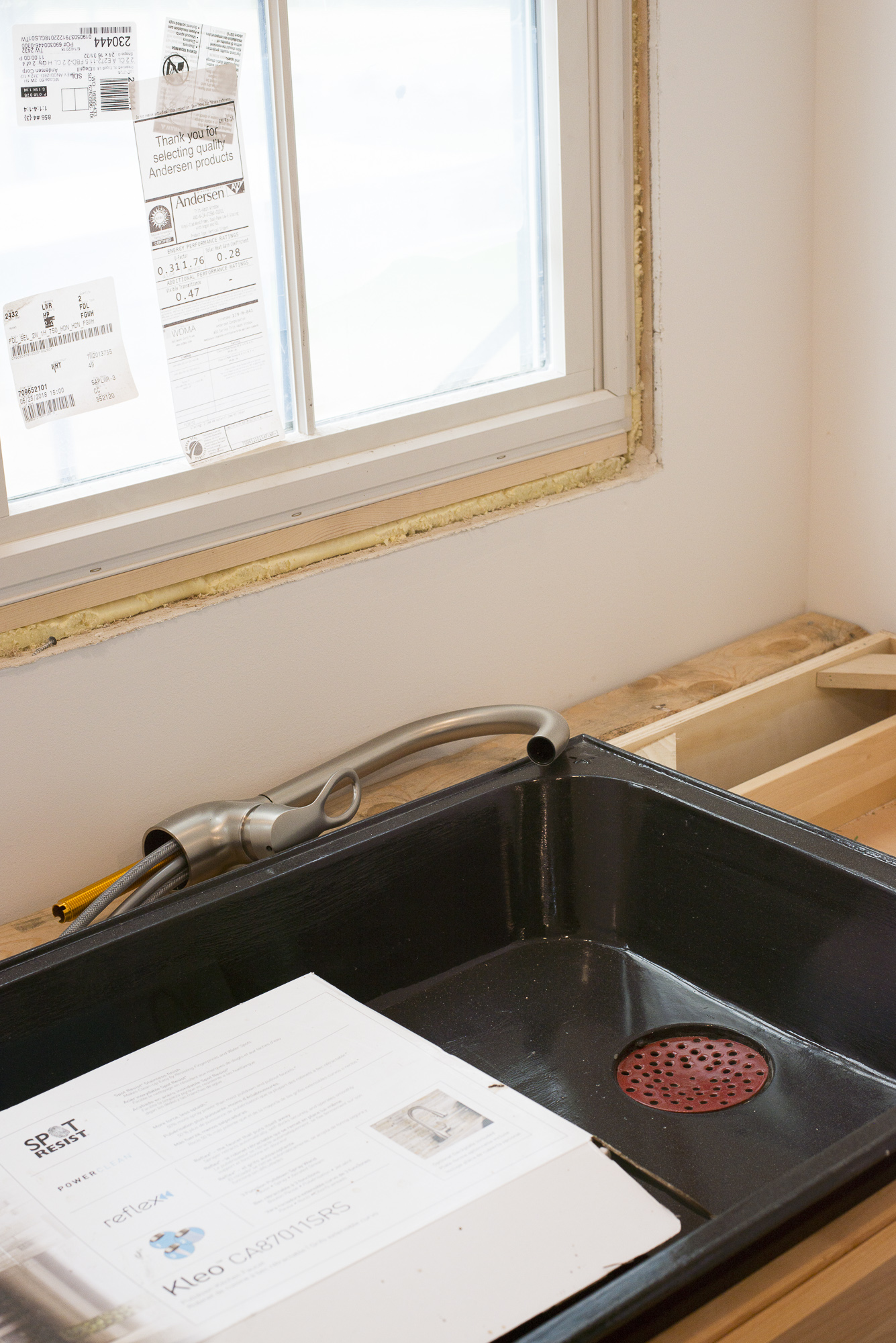 The original cast-iron sink