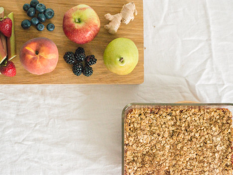 Homemade Eats: Seasonal Fruit Crumble