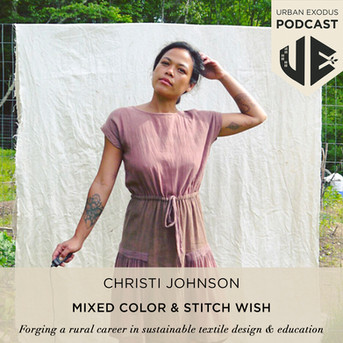Christi Johnson of Mixed Color & Stitch Wish: Forging a rural business in textiles and education