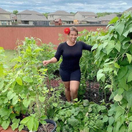 "Meet suburban grower Sherrie, AKA the ""Okra Lady"" of @mybackyardtxgarden"