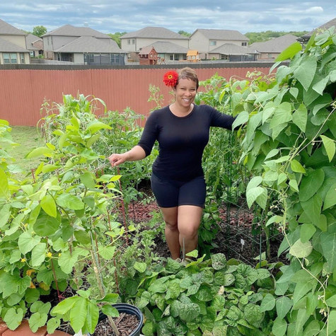 "Meet suburban grower Sherrie, AKA the ""Okra Lady"" of @mybackyardtxgarden"
