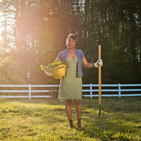 CNN Hero and Sow Much Good founder Robin Emmons at her urban farm in Charlotte, NC