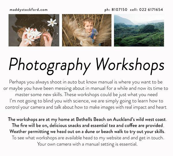 Beginner Photography workshop Auckland