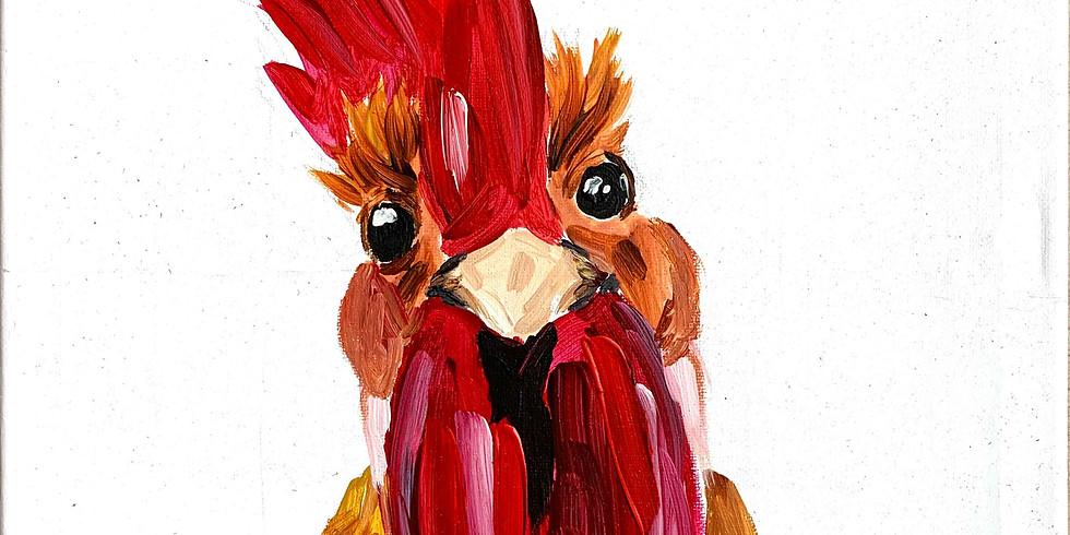 PINSEL&PROSECCO - Das dicke Huhn
