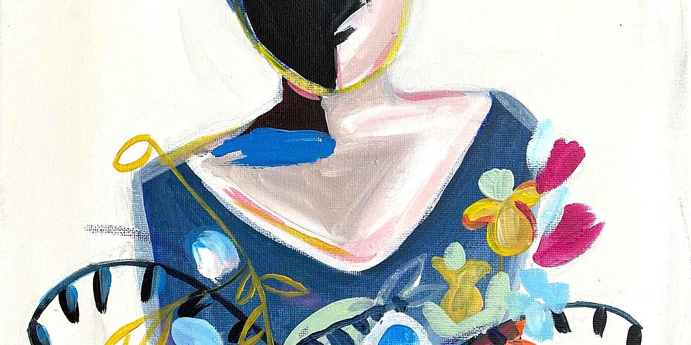 PINSEL&PROSECCO - Blumenmädchen