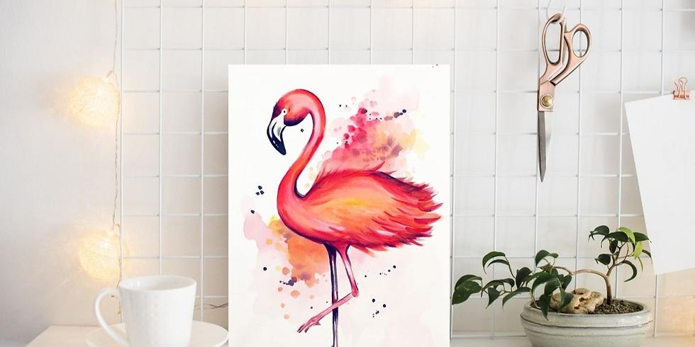 PINSEL&PROSECCO - Flamingo