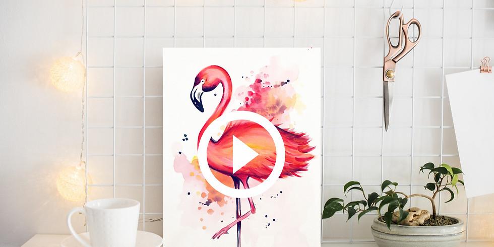 """Pinsel & Prosecco """"Flamingo"""""""