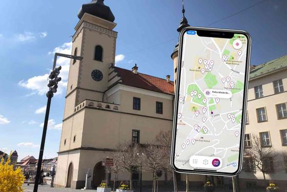 Mapa s objekty a akcemi v okolí