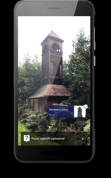Dřevěná zvonice Vrbno pod Pradědem_expor