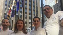 Chef Argiro Barbarigou Participates in Chefs' Tribute to Citymeals in NYC