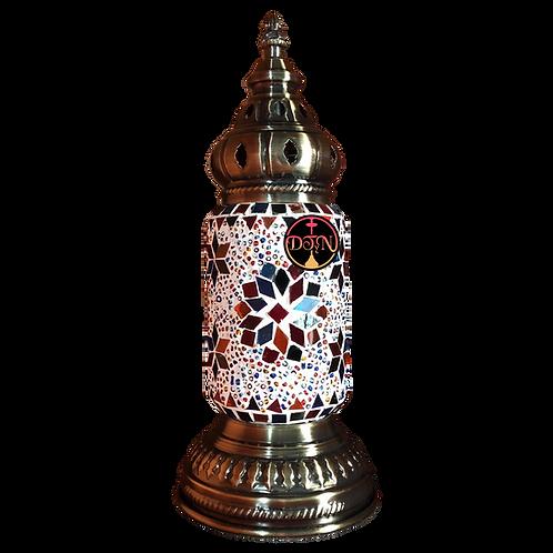 Velador turco BA236 multicolor porta lámpara tubo mediano