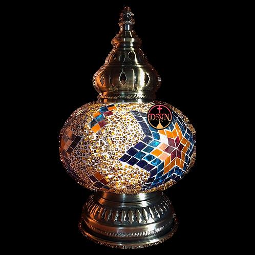 Velador turco BA234 multicolor porta lámpara mediano