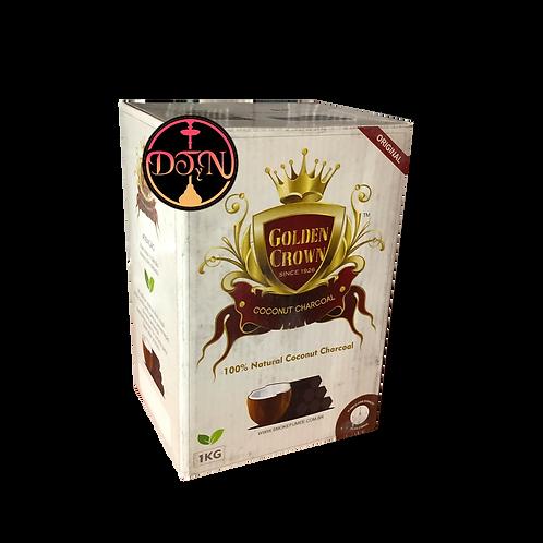 carbón natural de coco 1 kg hexagonal premium Golden Crown