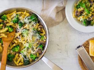 Cena en 20 minutos: Pasta de champiñones y brócoli