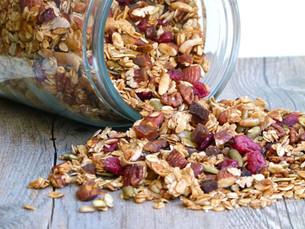 Dulce y poderoso mix de granola hecho en casa