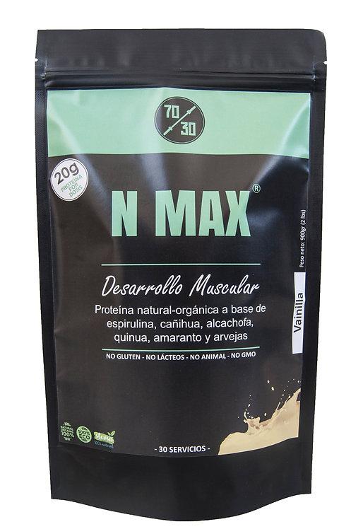 N MAX - Proteína de origen vegano (900g - Vainilla)