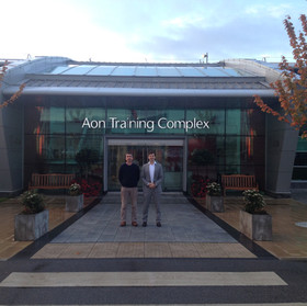 Dr Pieles & Prof Williams - Manchester United Trainig complex