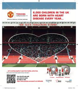 Canon Medical Systems Ltd. & Manchester United Congenital Heart Disease Public Add