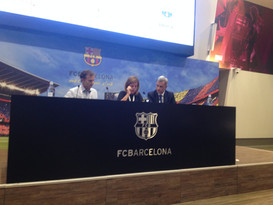Dr Serratosa (Specialist in Sports Medicine, Former Real Madrid FC Team Physician), Dra Sitges (Lead Cardiologist Hospital Clnic Barcelona, Lead Sports Cardiology FC Barcelona) & Dr Rodas (Specialist Sports Medicine, Physician FC Barcelona)