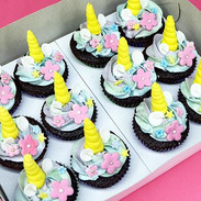 Unicorn cupcakes for the unicorn mother