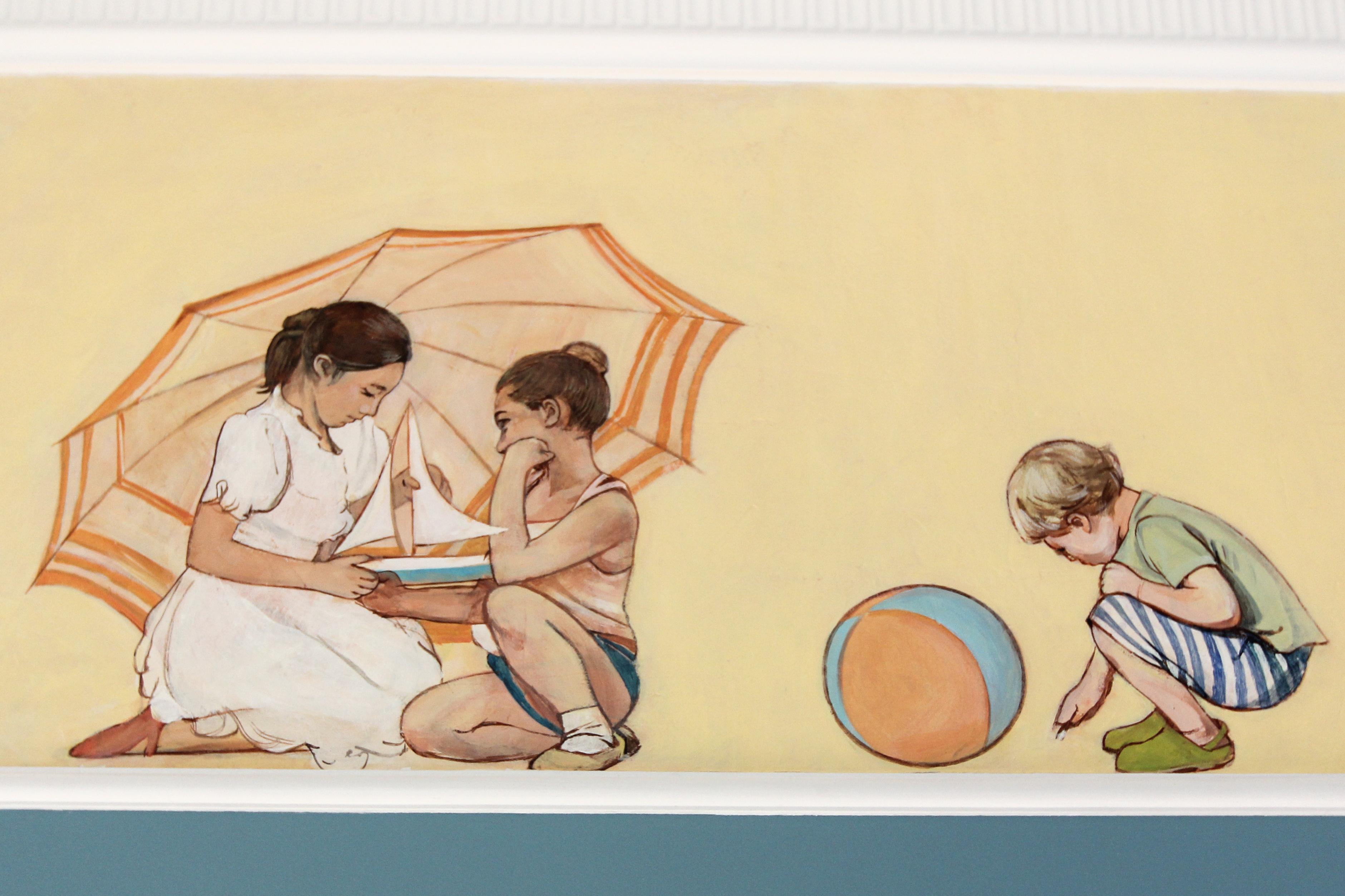 Роспись по мотивам советской живопис