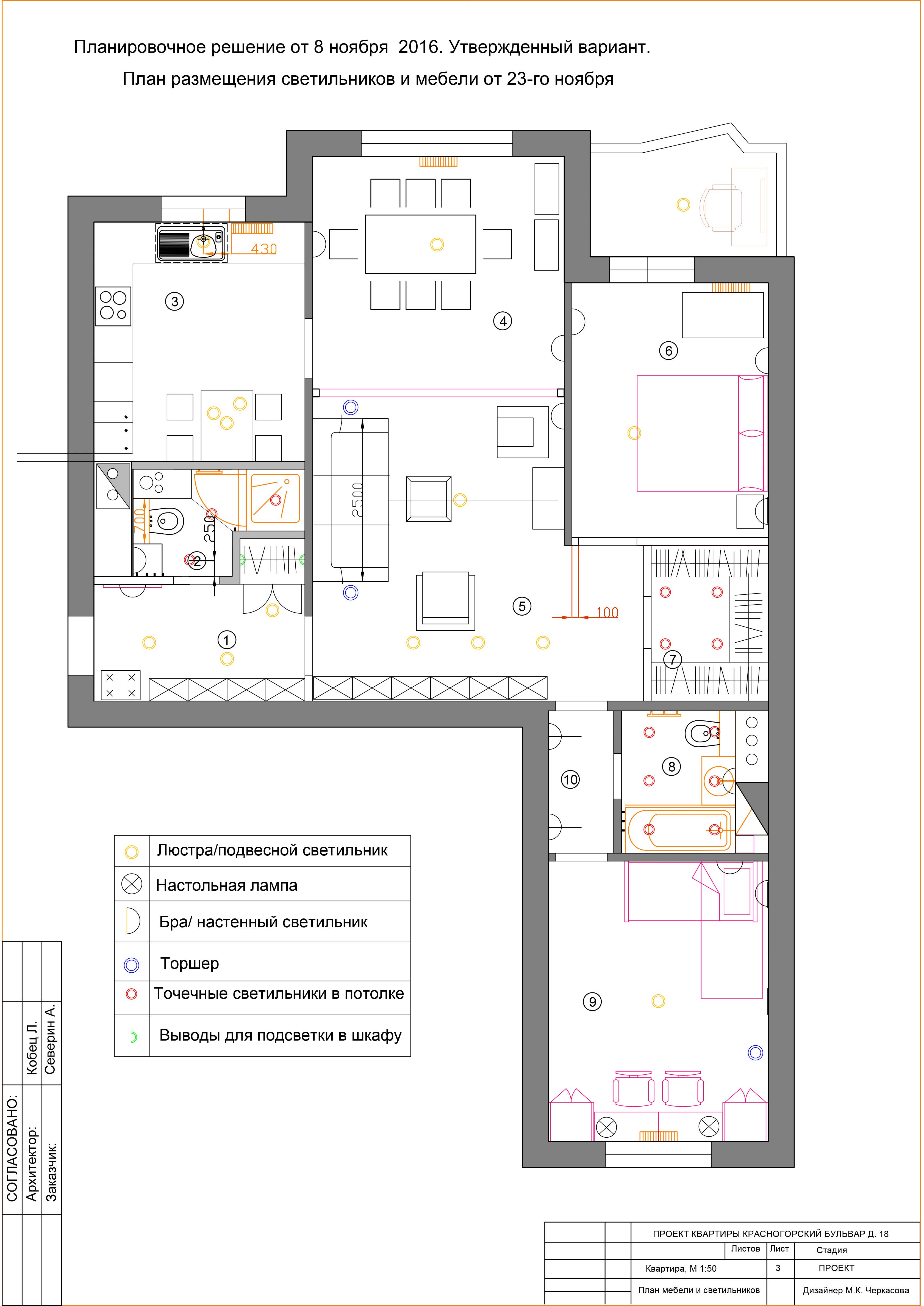 Лист_3_план мебели и светильников