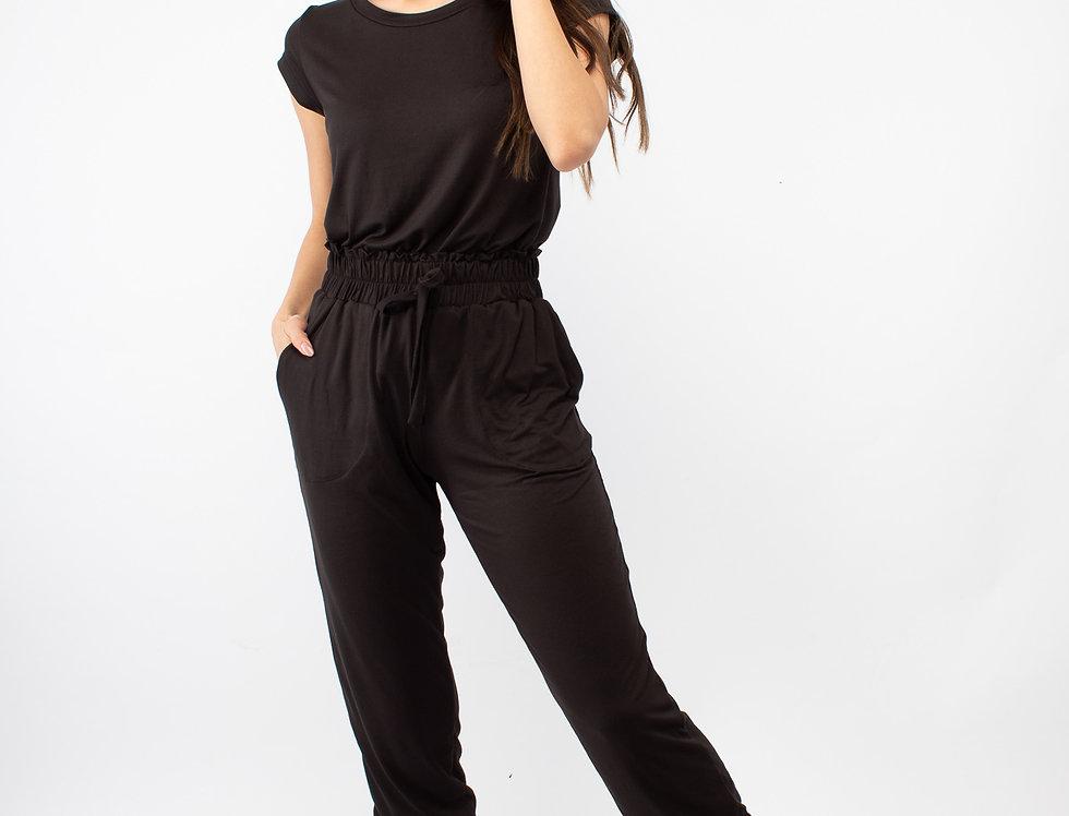 Set de pantalón y playera negro