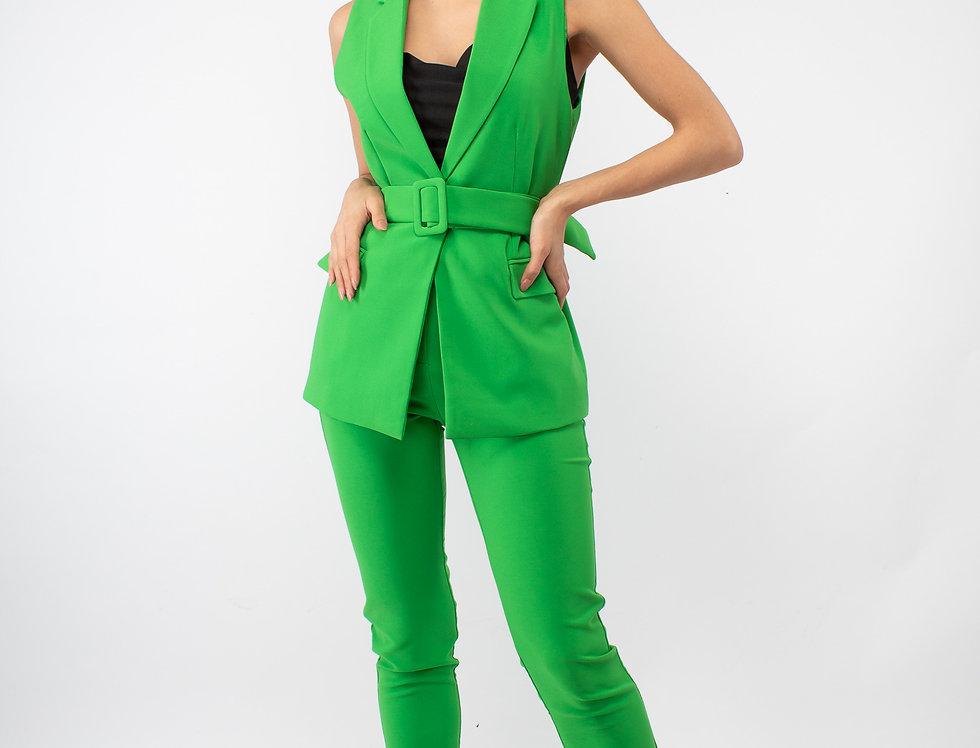 Set de pantalón y chaleco verde