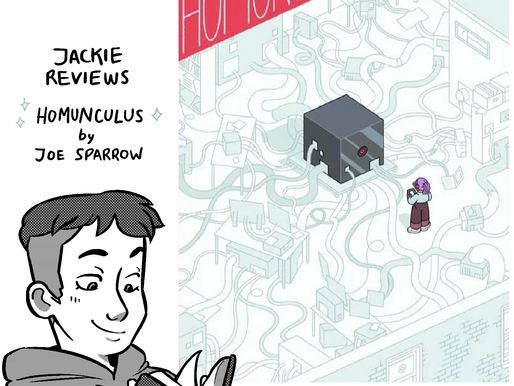 """A comic review of """"Homunculus"""" by Joe Sparrow"""