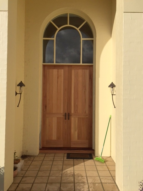 Hardwood Double Doors