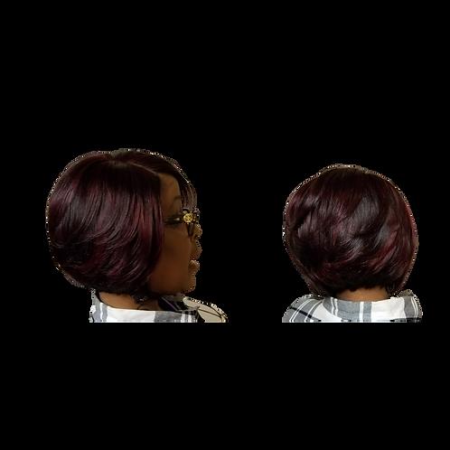 Two-Tone Human Hair Wig - Short Bob