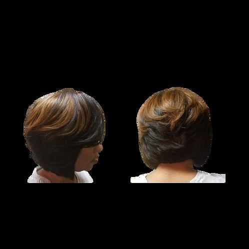 "12"" Two-tone Bob Cut Wig"