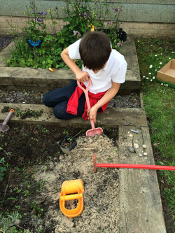 Adding sand to our soil