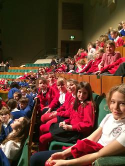 St David's Hall rehearsal