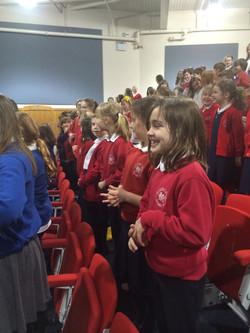 Cowbridge Comprehensive rehearsal