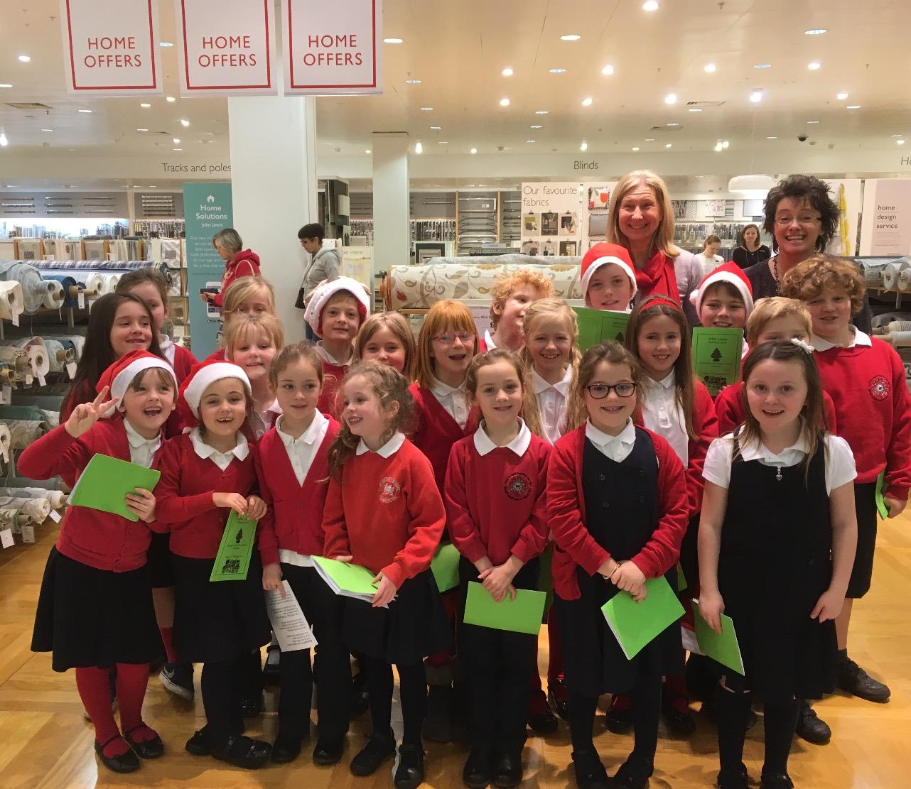 Christmas carols in John Lewis
