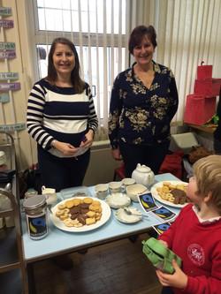 Lovely ladies serving Fairtrade Tea