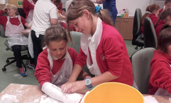 Making a plaster cast in hospital!