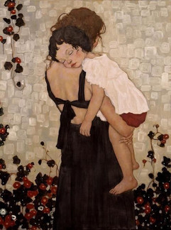 Sleepy heads and sweaty hands fill every corner of me...   ~ from my poem 'Cruxes' (Mother and Child by Klimt)