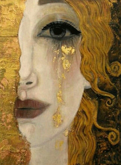 """There are tears that fall here, over the equator. Over the Americas. Returning to the sea.  ~from my story """"When Mother Nature Will Not Wake"""" out in Fahmidan Journal April 2021. (Art by Klimt)"""