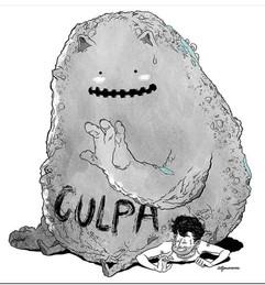 "Este dibujito me recuerda mi poema ""Dame tu culpa"" (Art por Alfonso Caras)"