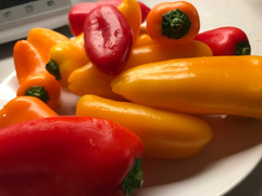 I will return to my kingdom of poetry and bell peppers.   ~ from my poem Una Cosa/One Thing