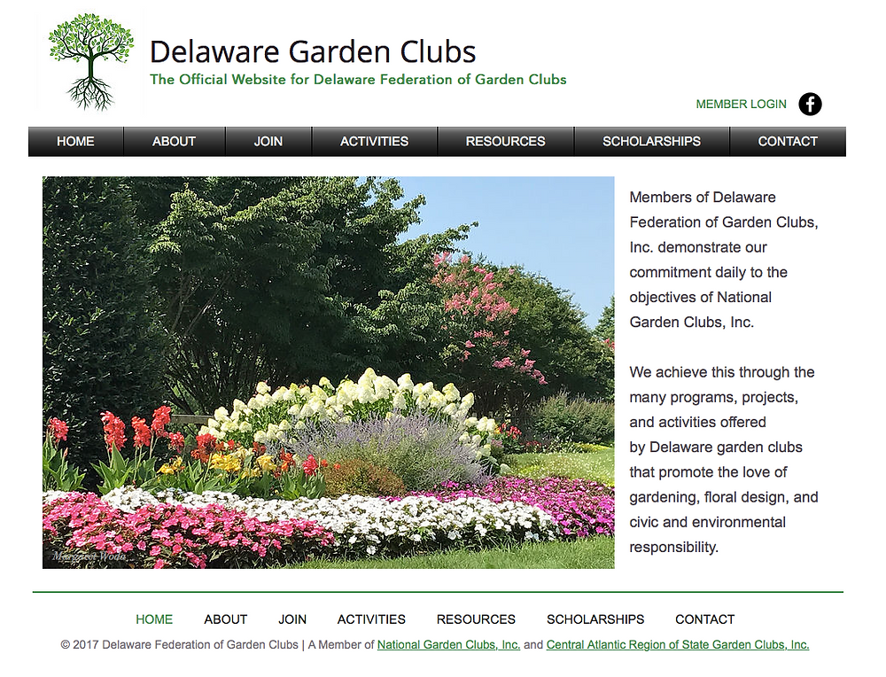 DelawareGardenClubs.org home page
