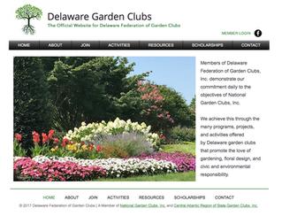 New Delaware Garden Clubs Website