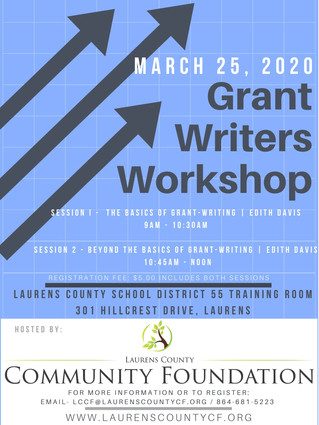 Announcing: Grant Writer Workshop | March 25th