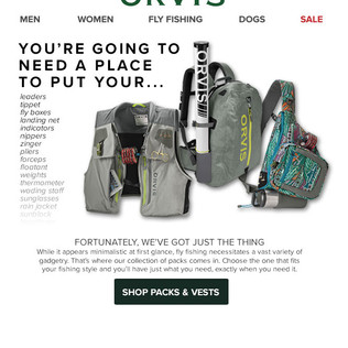 Orvis Email - Fly Fishing